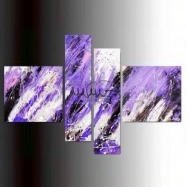 """4 Quadri Moderni Astratti """"SIRIUS - VERDE"""""""