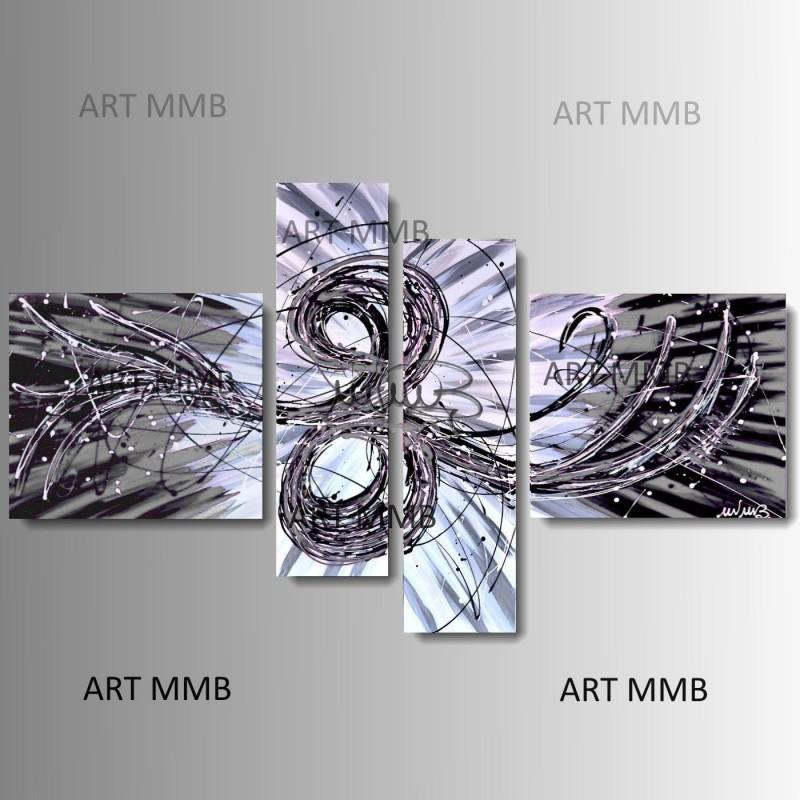 Quadri moderni astratti dipinti a mano art mmb quadri for Quadri in bianco e nero moderni