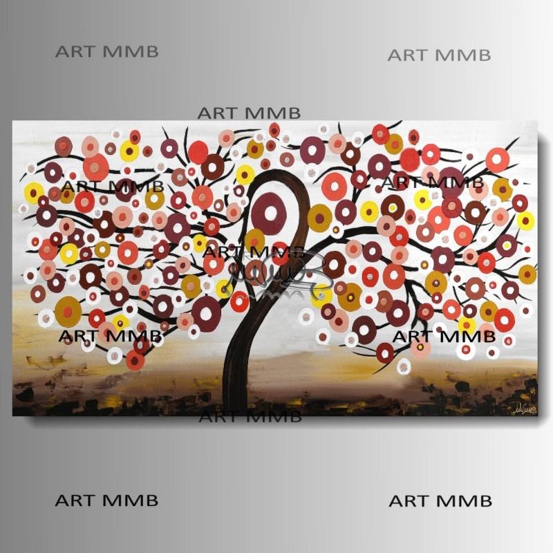 quadri moderni astratti dipinti a mano QUADRI ARREDAMENTO ALBERI