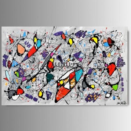 Quadri moderni astratti in rilievo per arredamento on line dipinti a ...