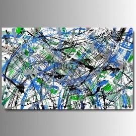 """1 Quadri moderni astratti """"ARCS """" Verde Blu"""
