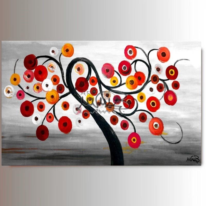 Quadri moderni astratti dipinti a mano quadri arredamento alberi - Dipinti moderni per cucina ...