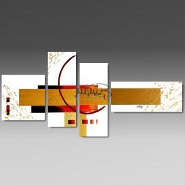 """4 Quadri Moderni Astratti """"MAGMA"""""""